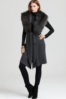 Cynthia Steffe Hartley Cardigan with Fur - Lyst