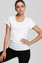 DKNY Short Sleeve Sequin Tee - Lyst