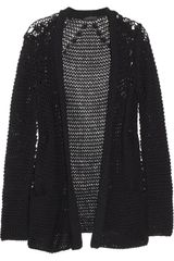 Donna Karan New York Open-knit Cotton-blend Cardigan - Lyst