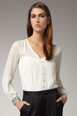 Elizabeth And James Chantal Embellished Blouse - Lyst