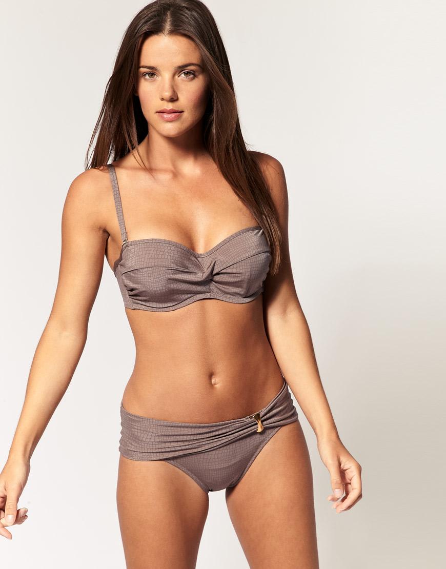 D cup bandeau bikini