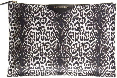 Givenchy Antigona Zip Pouch in Animal (leopard) - Lyst