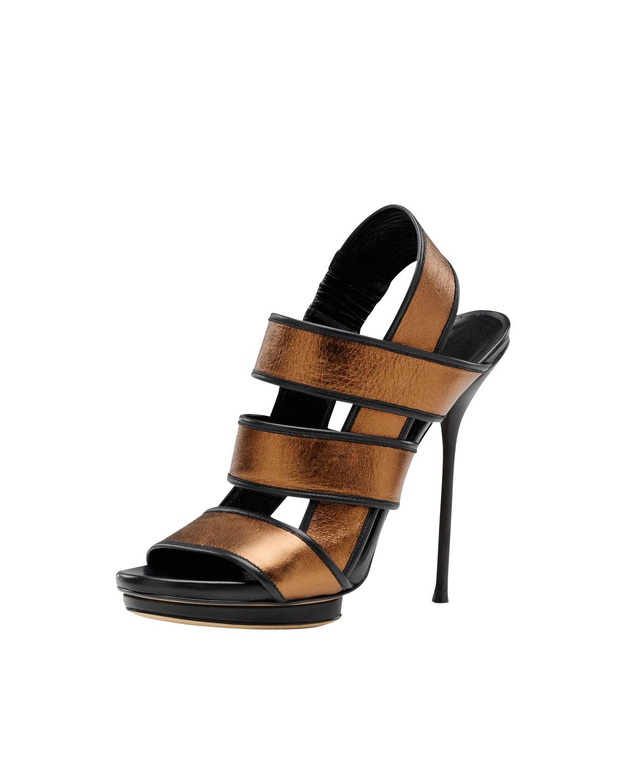 Lyst Gucci Bette High Heel Platform Sandal Bronze