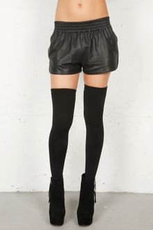 Haute Hippie Leather Boxing Short In 2 Colors - Lyst