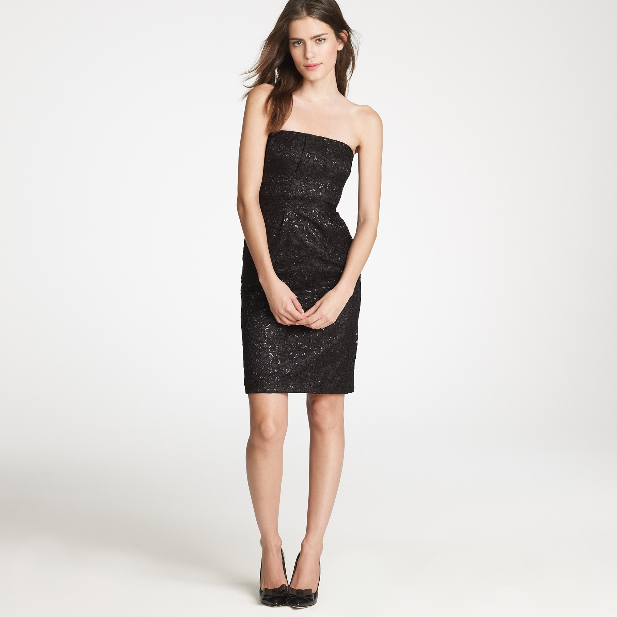 J.crew Tinsel Lace Dress in Black