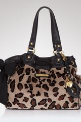 Juicy Couture Leopard Velour Daydreamer Tote - Lyst