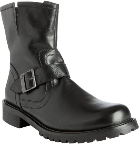 kenneth cole reaction black leather march on boots in