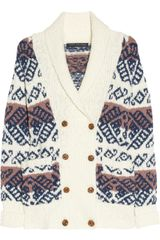 Marc By Marc Jacobs Kirsten Chunky-knit Wool-blend Cardigan - Lyst