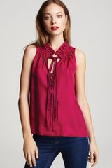 Marc By Marc Jacobs Pollina Silk Sleeveless Top - Lyst