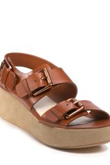 Kors By Michael Kors Kors Zoe Platform Wedge Sandals - Lyst