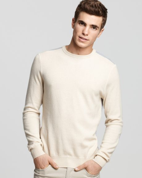Mens White Cashmere Sweater Sweater in White For Men