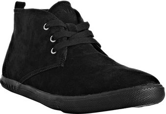Prada Sport Black Suede Lace Up Ankle Boots - Lyst