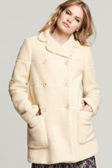 See By Chloé Long Sleeve Shearling Coat - Lyst