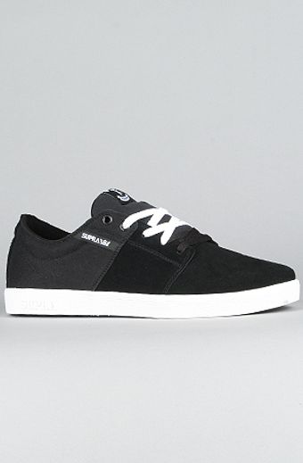 Supra The Stacks Sneaker in Black Suede - Lyst