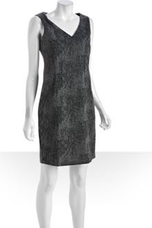 Tahari Grey Stretch Marble Print Double Knit Dress - Lyst