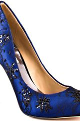 Badgley Mischka Sanoma - Blue Satin