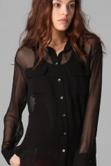 Equipment Signature Blouse in Black - Lyst
