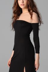 Holy Tee Abbey Lee Mesh and Jersey Maxi Dress in Black - Lyst