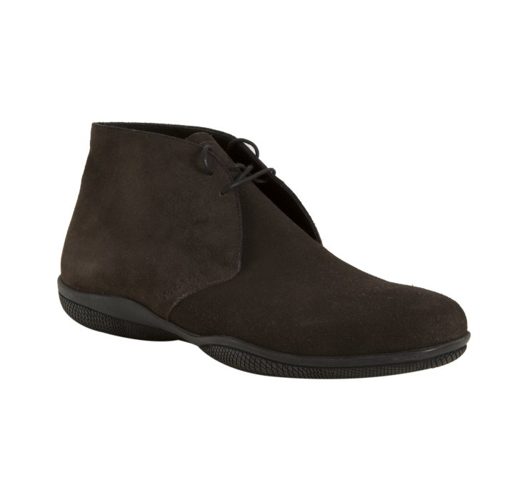 prada sport brown suede chukka boots in brown for