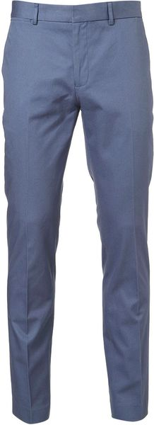 Topman China Blue Skinny Trousers in Blue for Men - Lyst