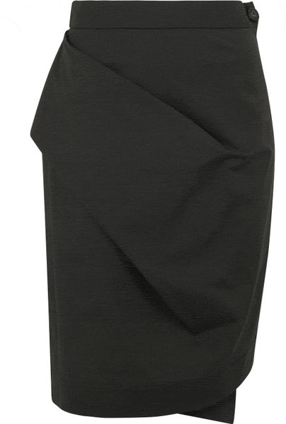 vivienne westwood anglomania charcoal asymmetrical pencil