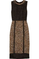 D&G Organza and Tweed Dress - Lyst