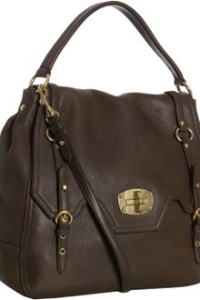 Miu Miu Burnt Leather Buckle Turnlock Convertible Shoulder Bag - Lyst