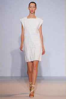 Nicole Farhi White Stripe Sequins Dress - Lyst
