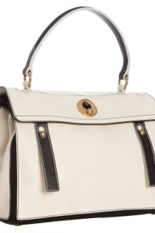Yves Saint Laurent Ivory Colorblock Leather Muse Two Satchel - Lyst