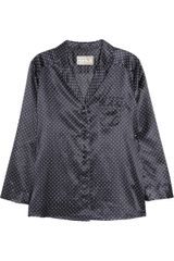 Aubin & Wills Harford Polka-dot Silk-blend Pajama Shirt - Lyst