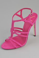 B Brian Atwood Lorrina Suede High Heel Sandals - Lyst