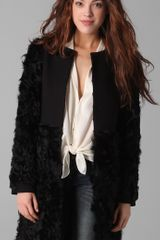 Elizabeth And James Tilda Shearling Combo Coat - Lyst