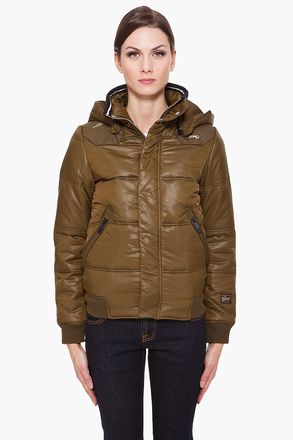 g star raw nordic whistler bomber jacket in green olive lyst. Black Bedroom Furniture Sets. Home Design Ideas