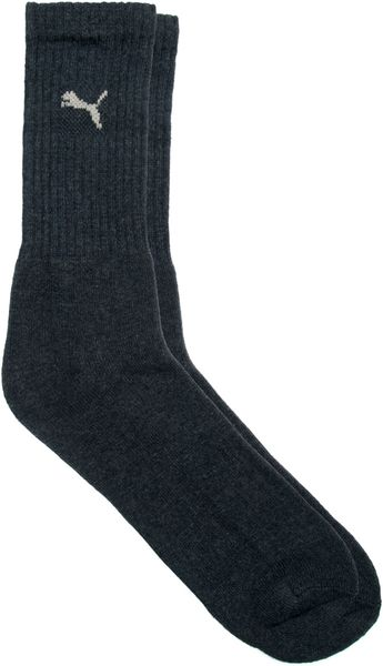 Puma 3 Pack Mixed Crew Socks In Black For Men Navyblue