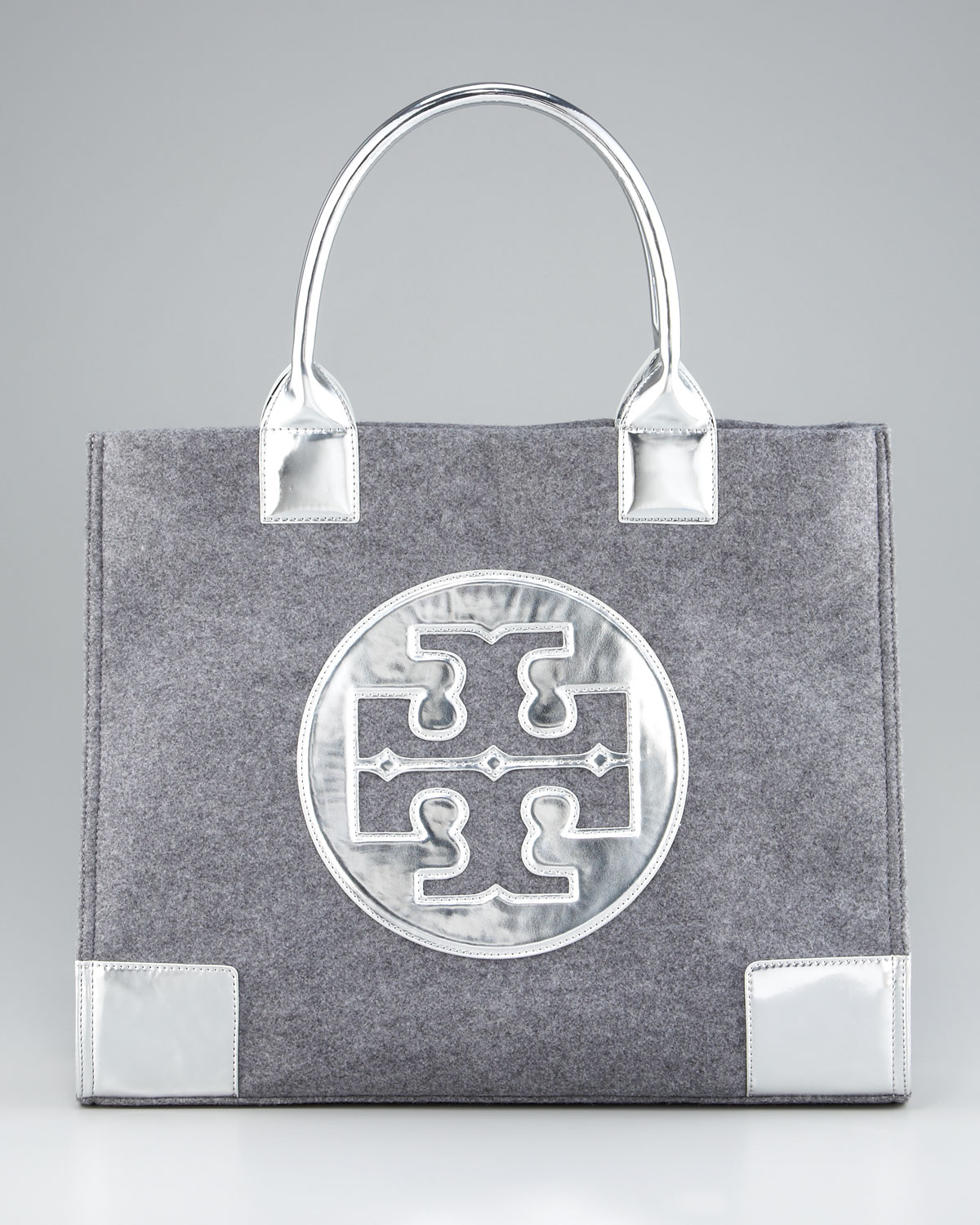 994e26d816d Lyst - Tory Burch Leather   Flannel Ella Tote in Gray