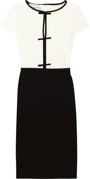 Valentino Two-tone Crepe Dress - Lyst
