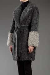 Xuod Doux Shearling Coat in Gray (grey) - Lyst