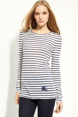 Burberry Brit Stripe Slub Knit Tee - Lyst