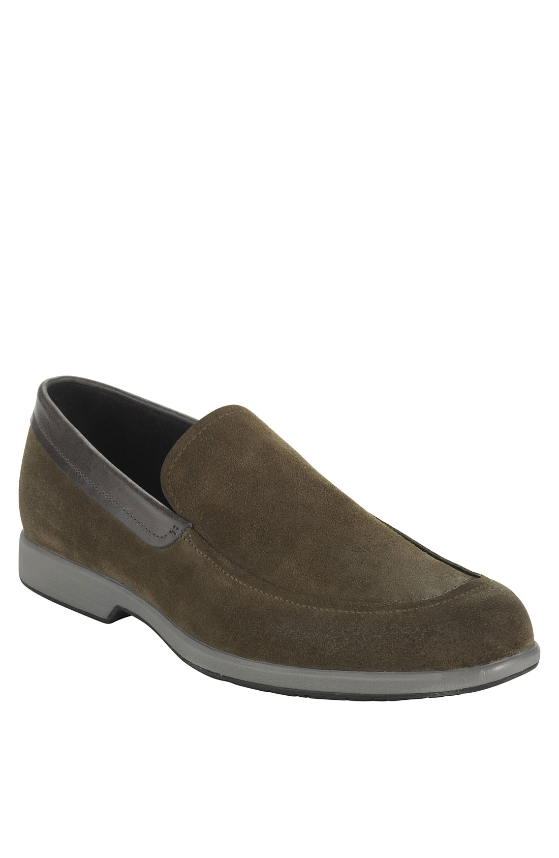 Mens Gray Suede Shoes