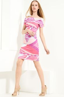 Emilio Pucci Off-the-shoulder Printed Jersey Dress - Lyst