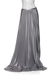 Halston Heritage Exclusive Pleated Maxi Skirt: Silver
