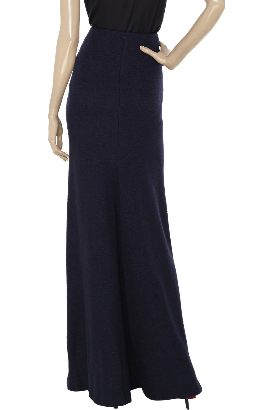 jil sander wool blend boucl 233 maxi skirt in black lyst
