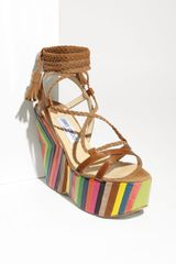 Jimmy Choo Pearl Wedge Sandal - Lyst