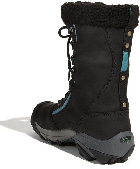 keen hoodoo waterproof nubuck leather boot in black lyst