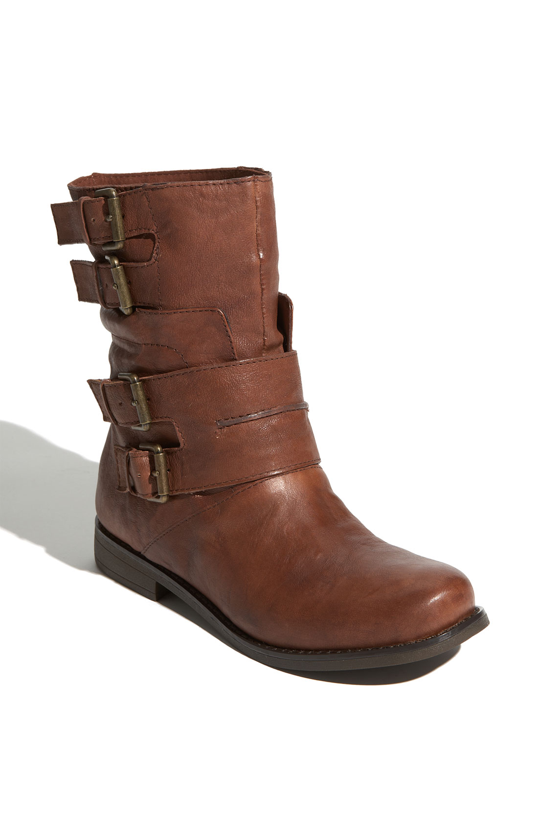 nine west fango boot in brown brown leather lyst