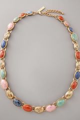 Oscar de la Renta Carved-stone Necklace - Lyst