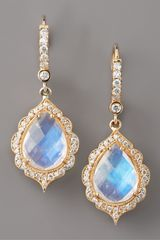 Penny Preville Moonstone & Diamond Drop Earrings - Lyst
