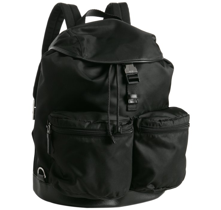 www prada purses com - Prada Black Nylon Pocket Detailed Backpack in Black for Men | Lyst