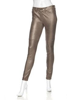 Rag & Bone Preorder Exclusive Midrise Skinny Leather Jeans: Bronze - Lyst