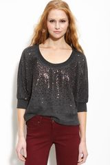 Splendid Embellished Scoop Neck Top - Lyst